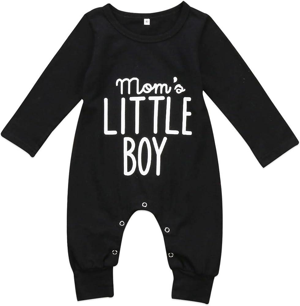 Luckylife Baby Kleidung Overall Neugeboren Lange /Ärmel Jungen I m The Boss Bedruckt Schwarz Niedlich Schlafanzug Romper Fr/ühling Herbst