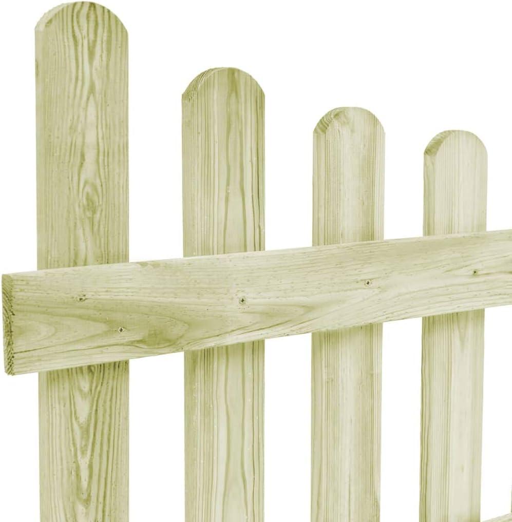 vidaXL Holz Imprägniert Gartentor 170x100cm Tor Zauntür Gartentür Lattenzaun