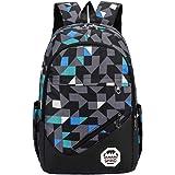School Backpack Elementary School Bags Casual Daypack Kids Bookbag for Boys and Girls (Graffiti-Green)