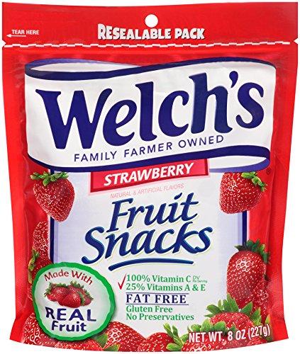 Strawberry Snacks Fruit (WELCH'S Fruit Snacks, Strawberry, 8 Ounce)