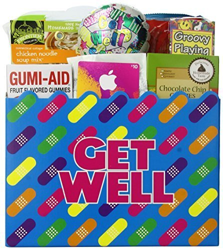 Great Arrivals Teen Get Well Gift Basket for Boys or Girls Ages 13 and Up, Humor and Tunes by GreatArrivals Gift Baskets (Teen Tunes)