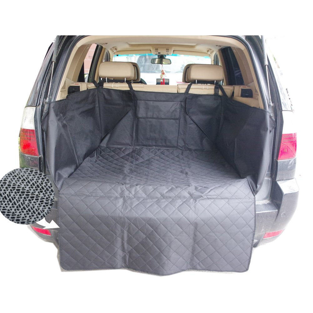 Sunshines Union Nonslip Waterproof Dog Car Cargo Cover Dog Cargo Liner Pet Car SUV Trucks Cargo Liner Seat Cover Protection Mat with Pocket 130x105cm