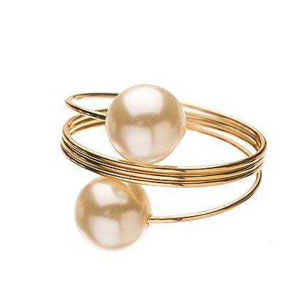 Amazon Com Ella Celebration Pearl Napkin Ring Holders Bulk Napkin