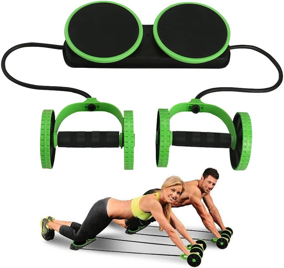 Darhoo Ab Roller Wheel – Ab Wheel Exercise Fitness Equipment – 5-in-1 Multi-Functional Core Ab Workout Abdominal Wheel Machine – Ab Roller Home Gym Equipment for Both Men Women