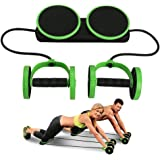 Darhoo Ab Roller Wheel - Ab Wheel Exercise Fitness Equipment - 5-in-1 Multi-Functional Core Ab Workout Abdominal Wheel Machine - Ab Roller Home Gym Equipment for Both Men & Women