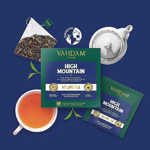 Himalayan Oolong Tea (30 Bolsitas de té) - 100% de té de desintoxicación natural, té de Oolong Hojas de té de pirámide de hojas sueltas, cerveza caliente, ...