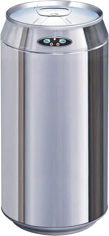 Poubelle de cuisine automatique 30L CAN Drapeau anglais en acier INOX forme canette avec seau