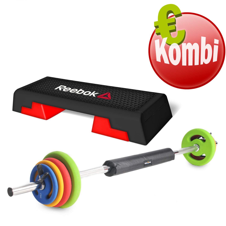 Reebok Step + Oliver Prime Pump Pesas Entrenamiento de la Fuerza Combinado Step Tabla Regulable 16 kg, Blanco/Rojo: Amazon.es: Deportes y aire libre