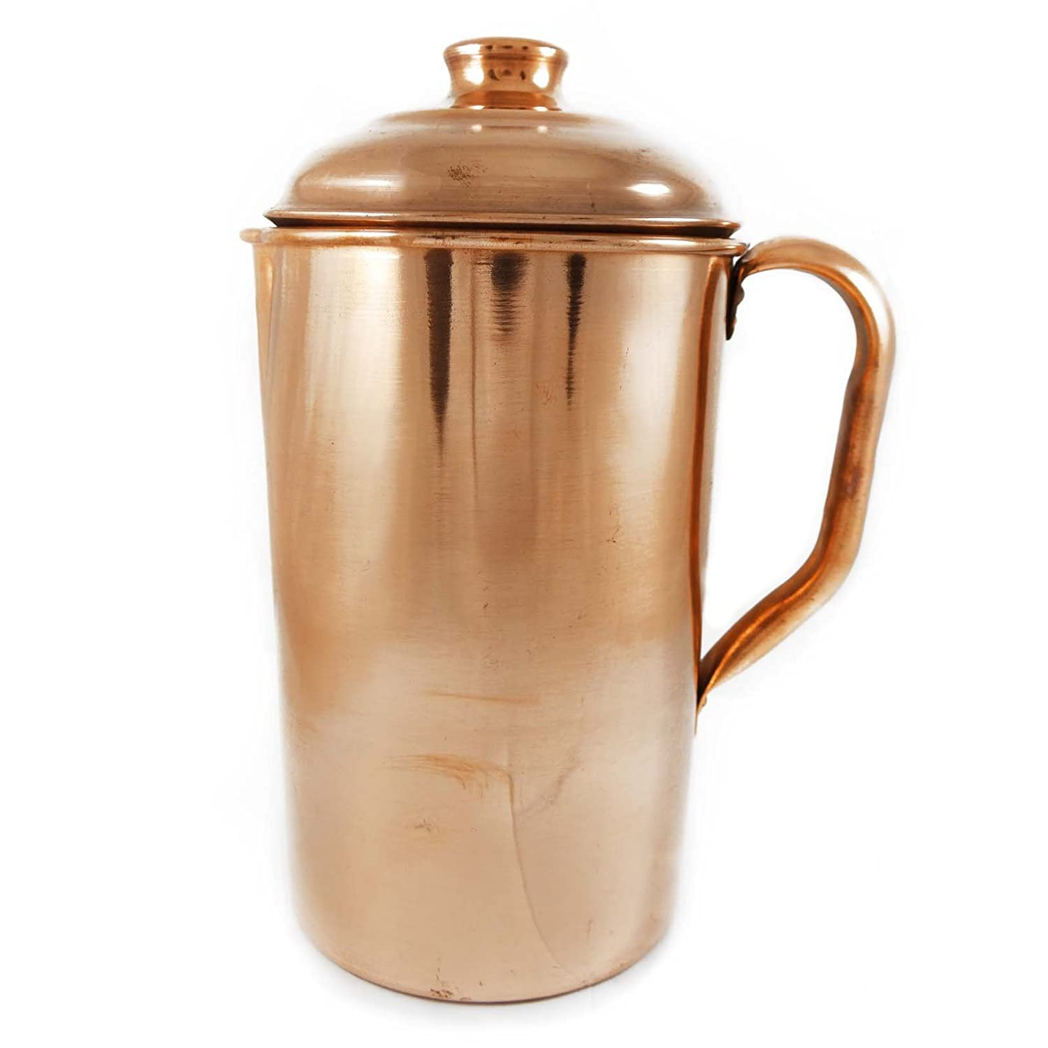 Ayurvedic Benefit Copper Steel Water Jug Tableware Traditional Serving Utensils Indianbeautifulart