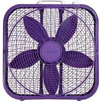 Lasko Cool Colors 20 Box Fan Durable Metal Frame Purple