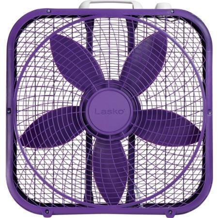 Lasko Cool Colors 20'' Box Fan Durable Metal Frame Purple by Lasko Cool Colors 20'' Box Fan Durable Metal Frame Purple
