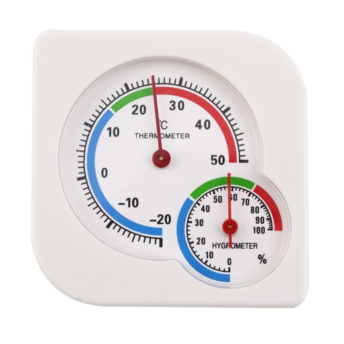 BlackPJenny Classic Homeuse Indoor Outdoor 2 in 1 Mini Igrometro Umido accurato Termometro di umidità Misuratore di Temperatura Meccanico