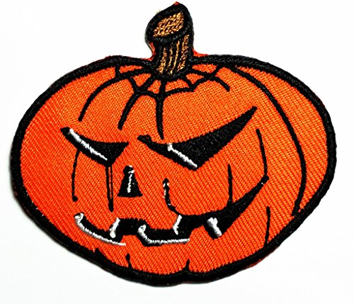 HHO Jack o' lantern pumpkin Halloween Celtic Samhain embroidered Patch Embroidered DIY Patches, Cute Applique Sew Iron on Kids Craft Patch for Bags Jackets Jeans Clothes