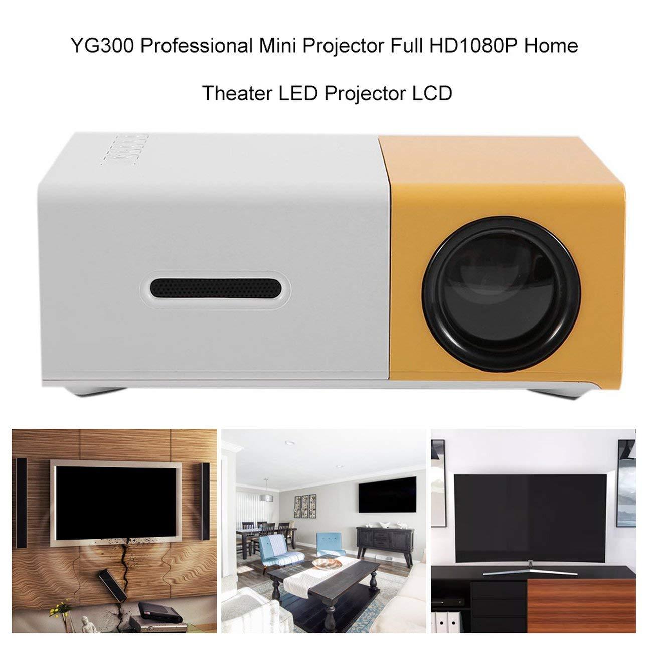 Ballylelly Mini proyector profesional YG300 Full HD1080P Proyector ...