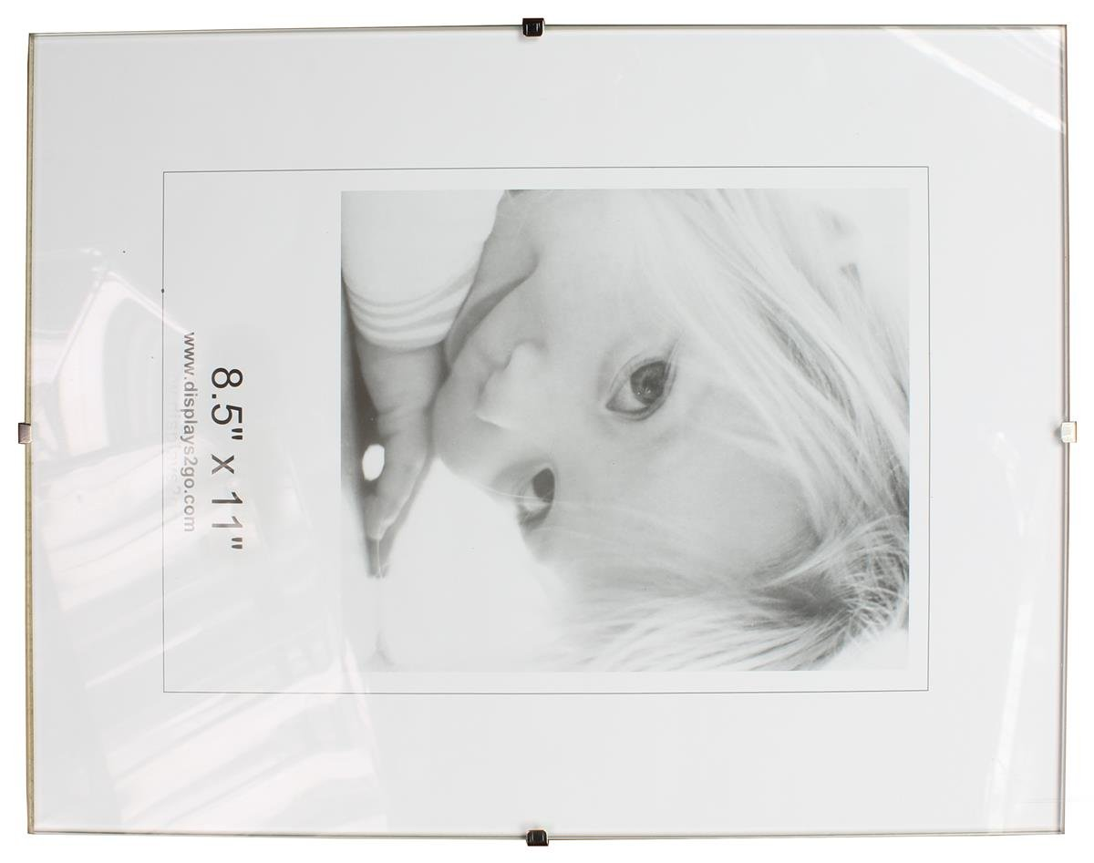 Amazon 8 12 x 11 x 14 inch tempered glass frameless clip amazon 8 12 x 11 x 14 inch tempered glass frameless clip picture frame for 8 12 x 11 inch documents wall mounted sold in sets of 6 single jeuxipadfo Image collections