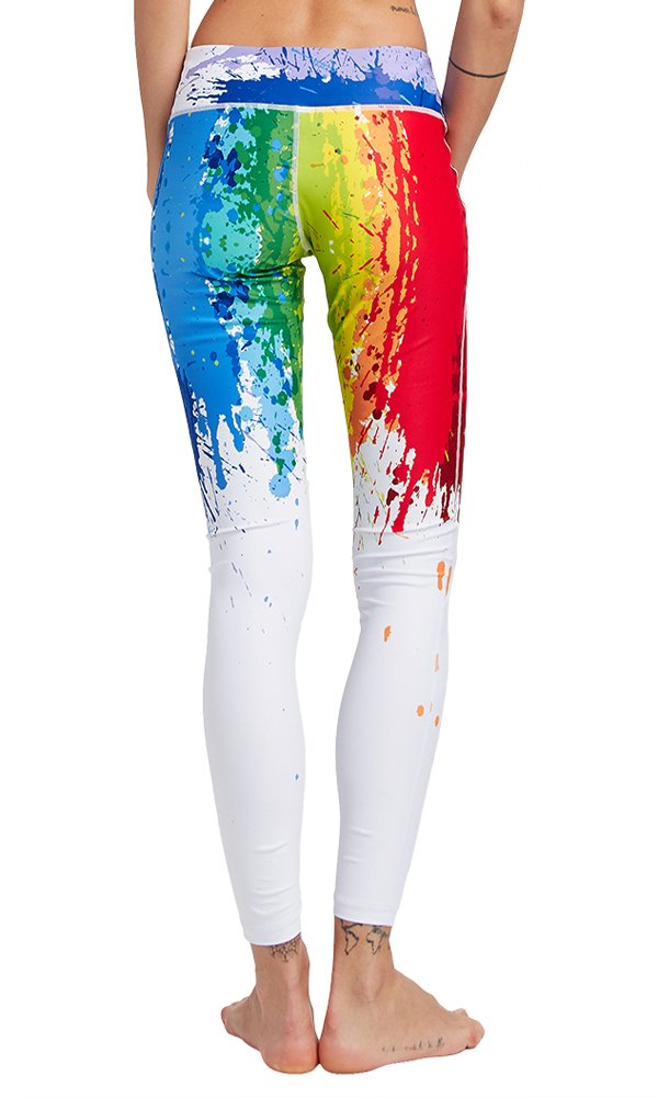TUONROAD High Waist Printed Leggings Tummy Control Fitness Active Workout Running Jogging Gym Yoga Pants Activewear (Tie-Dyed-1, L)