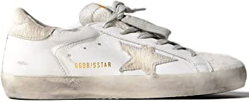 955e5bd128ce Golden Goose Deluxe Brand Women s Low Top Fashion Sneakers Superstar Silver  Horsy Star in Leather G32WS590