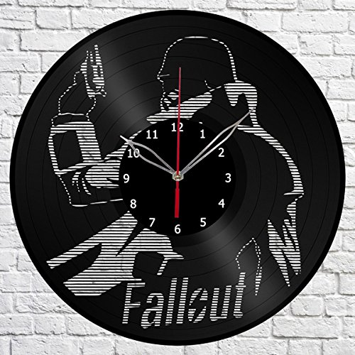 Fallout Vinyl Record Wall Clock Fan Art Handmade Decor Unique Decorative Vinyl Clock 12