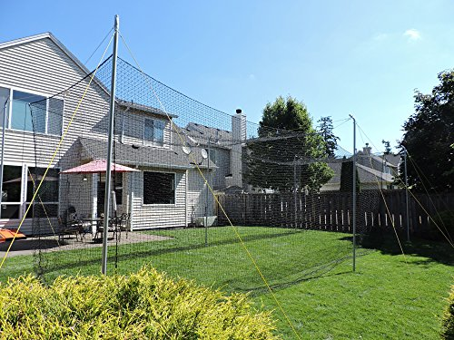 Jugs Hit at Home Backyard Batting Cage - Compact 45' x 11' x 11' Size is Perfect for backyards, or Small Hitting Area. Includes net, Frame and Everything Needed to Set up.