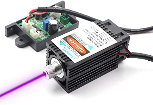 OXLasers 405 nm 500 mW UV Laser Module 12 V DIY Azul Violeta Laser ...