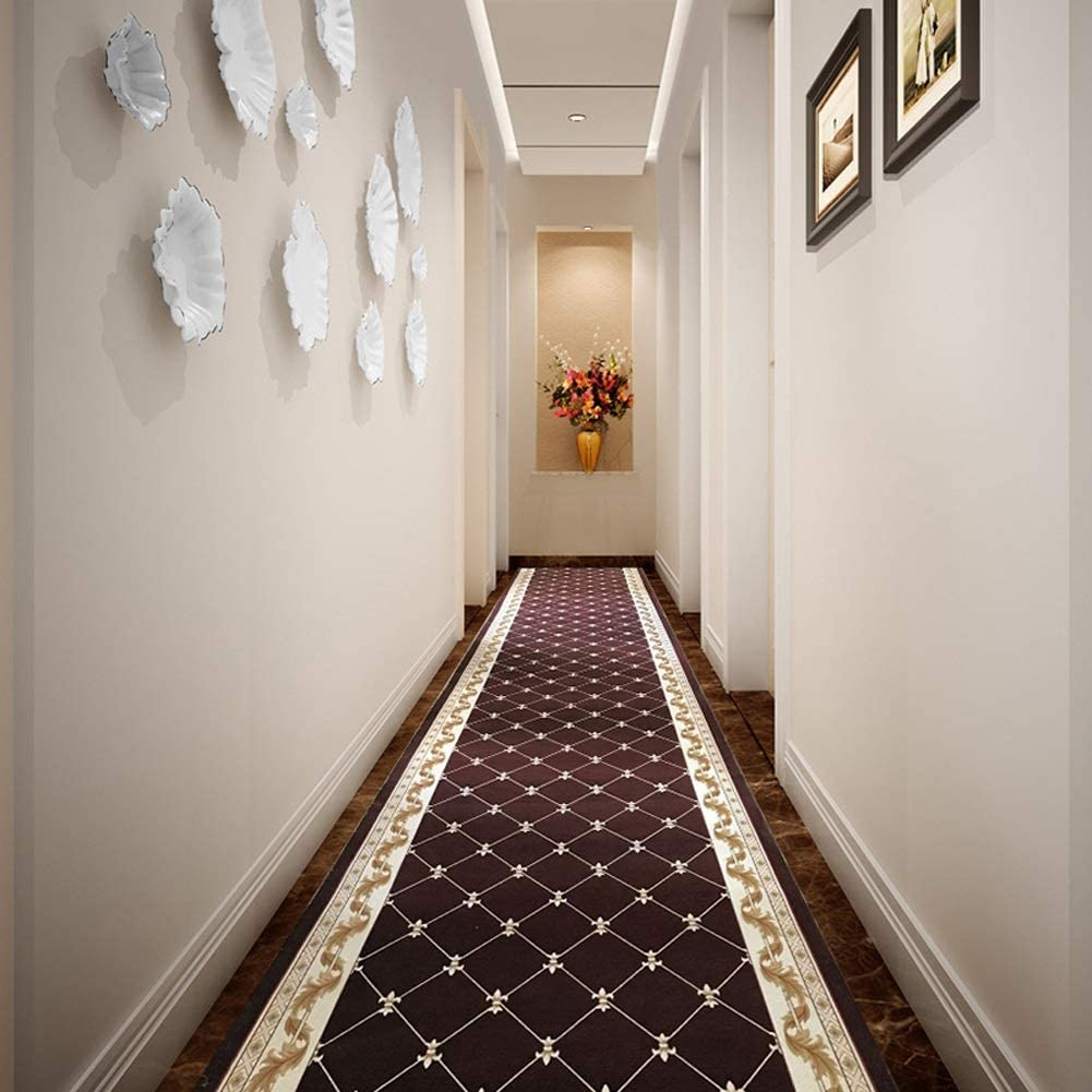 QTT Jacquard Runner Rugs Contemporary Printed Carpet Floral Throw Mat for Hallway Entryway Home Decor Multi Size TTaN (Color : CG, Size : 5'3''(W) X9'10''(L))