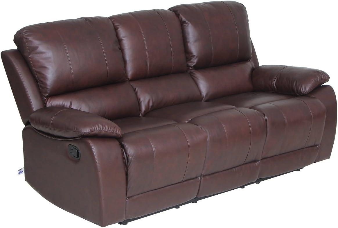 Amazon.com: Juego de sofás VIVA HOME, de piel ...