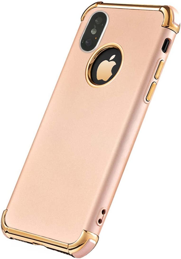 5.8 inch Tverghvad iPhone Xs Case Ultra Thin Flexible Soft iPhone Xs Slim Case red 3 in 1 Electroplated Shockproof Elegant Phone Case Compatible with iPhone Xs