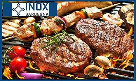 INOX SARDEGNA Double Grille en Acier Inoxydable Barbecue