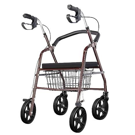 HSRG Andador para Ancianos de 4 Ruedas,Plegable,con Asiento ...