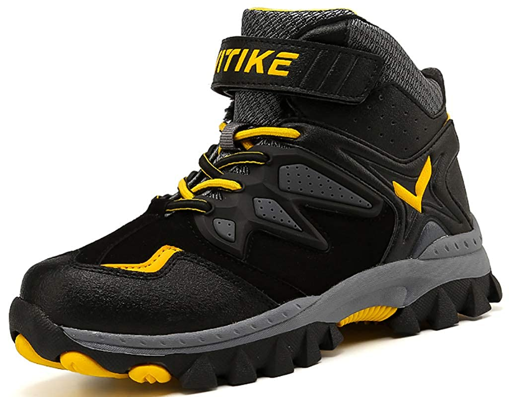 VITIKE Hiking Shoes Comfortable Cilmbing Boots Boys Trekking Ankle Support Travelling, Camping
