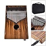 Qjoy Kalimba 17 Keys Mbira Thumb Piano Likembe with EVA High Performance Protection Box Tuning Hammer