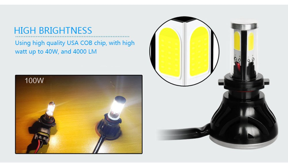 Car Rover® H7 Faro Bombillas Canbus Alquiler de luces LED 80W brillante estupendo de la lámpara con la viruta del Cree para el coche / Van / Camión ...