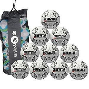 10 x DERBYSTAR Trainingsball - SCIROCCO TT inkl. Ballsack
