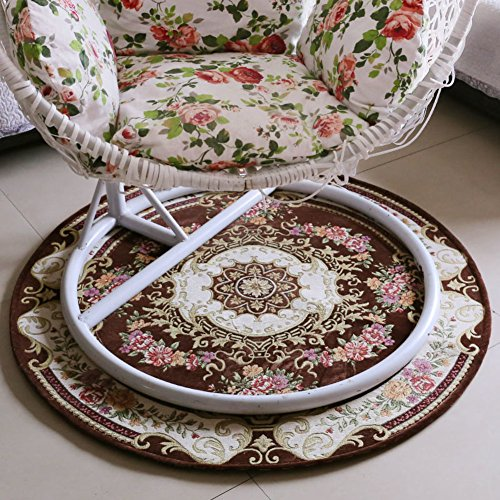 Area rugs Round carpet Computer chair Mat Home Bedroom Living room Bedside Hanging chair Basket Pad Coffee table-F diameter90cm(35inch)