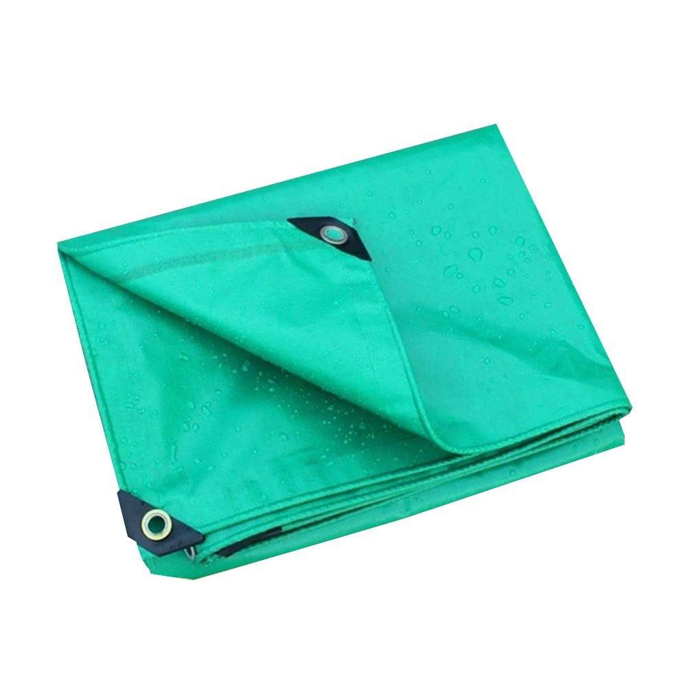 CHAOXIANG オーニング 厚い 折りたたみ可能 両面 防水 耐摩耗性 耐高温性 耐寒性 耐食性 防塵の PVC 緑、 530g/m 2、 厚さ 0.4mm、 12サイズ (色 : 緑, サイズ さいず : 3x3m) B07D8RSRG2 3x3m|緑 緑 3x3m
