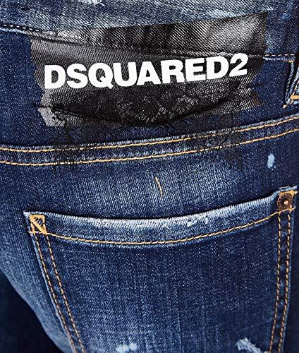 Azul Algodon Jeans S75lb0111s30342470 Dsquared2 Mujer Bq0wE