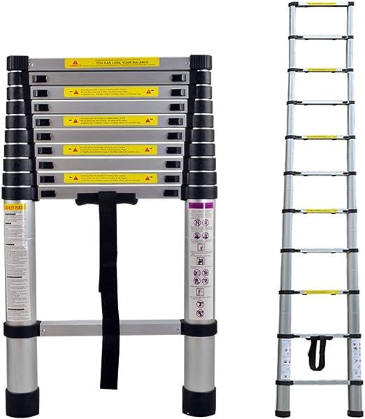 4.4m LARS360 Teleskopleiter Multifunktionsleiter Ausziehleiter Anlegeleiter Mehrzweckleitern Hochwertigem aluminium Leiter