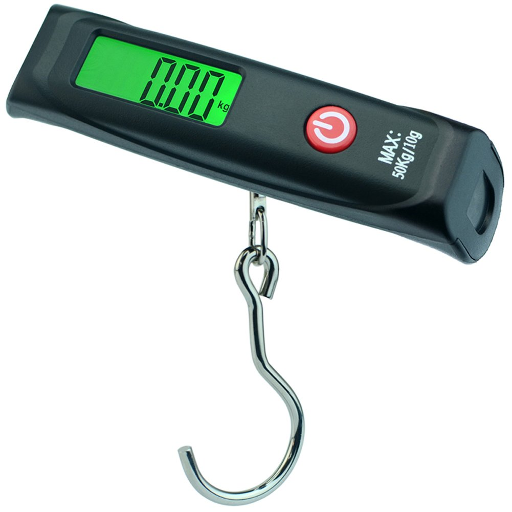 Luggage Scale 110lb, Digital Portable Suitcase Scale for Travel Baggage Weight w/Carrying Bag