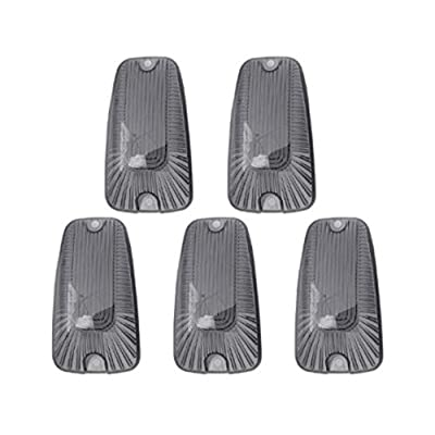 5pcs Smoked Cover Cab Roof Marker Lights, KOMAS Roof Top Lamp Clearance Running Light Replacement for Truck SUV 1988-2002 Chevrolet Silverado GMC C/K (Smoked Cover): Automotive