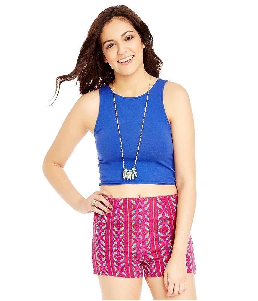 640311ccaa Amazon.com  Aeropostale Womens Cross Back Crop Tank Top  Clothing
