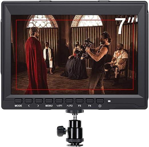 WENHU 7 Pulgadas Monitor de Campo 4 K HDMI DSLR Cámara Monitor LCD ...