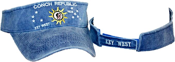 Embroidered Light Red Florida Key West Conch Republic Visor hat cap new