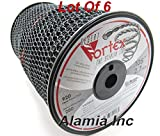 (Lot of 6 Rolls) Original Black Vortex 105 Commercial Trimmer Line 5-Lbs. Large Spool 920 Feet each, MADE IN USA