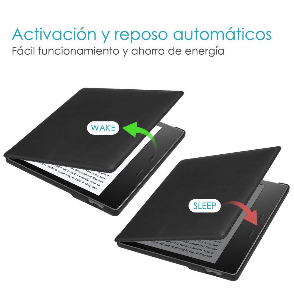 9./ª Generaci/ón 10./ª Generaci/ón Azul - Carcasa de Cuero Aut/éntico Funci/ón de Auto-Reposo//Activaci/ón // 2017 CASEBOT Funda para Kindle Oasis 2019