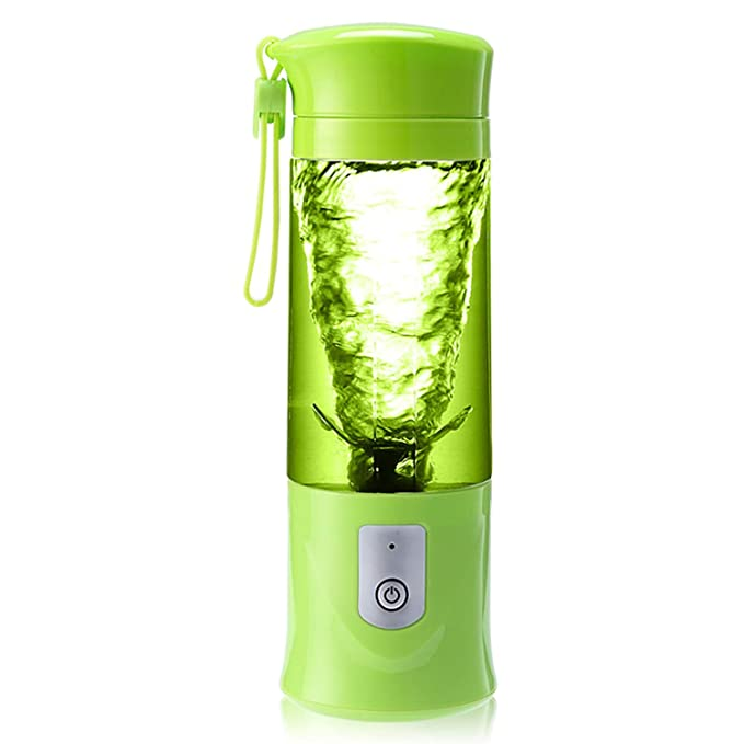 YRE Mini Automatic Juicer, Electric Portable Juicer Juicer, Multi-Function Cooking Machine,Green