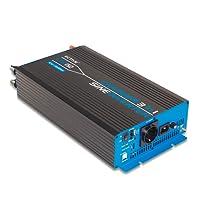 ECTIVE 1500W 12V zu 230V CSI-Serie reiner Sinus Wechselrichter mit Batterie Ladegerät und NVS in 7 Varianten: 300W - 3000W