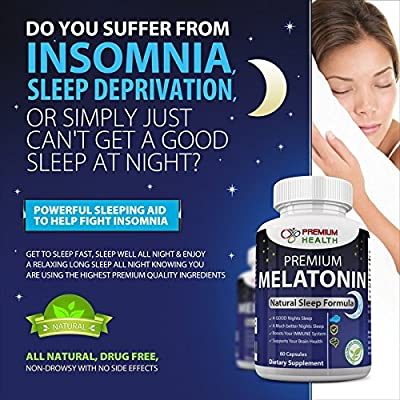 Best Premium Melatonin 240 Tablets Natural Sleep Aid Helps You Get Good Night's Sleep Natural Sleeping Pills Helps Fight Off Insomnia Also Helps Brain Health