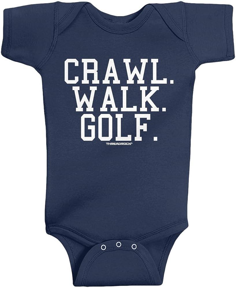Threadrock Unisex Baby Crawl Walk Lift Fish Golf Soccer Hockey Infant Bodysuit