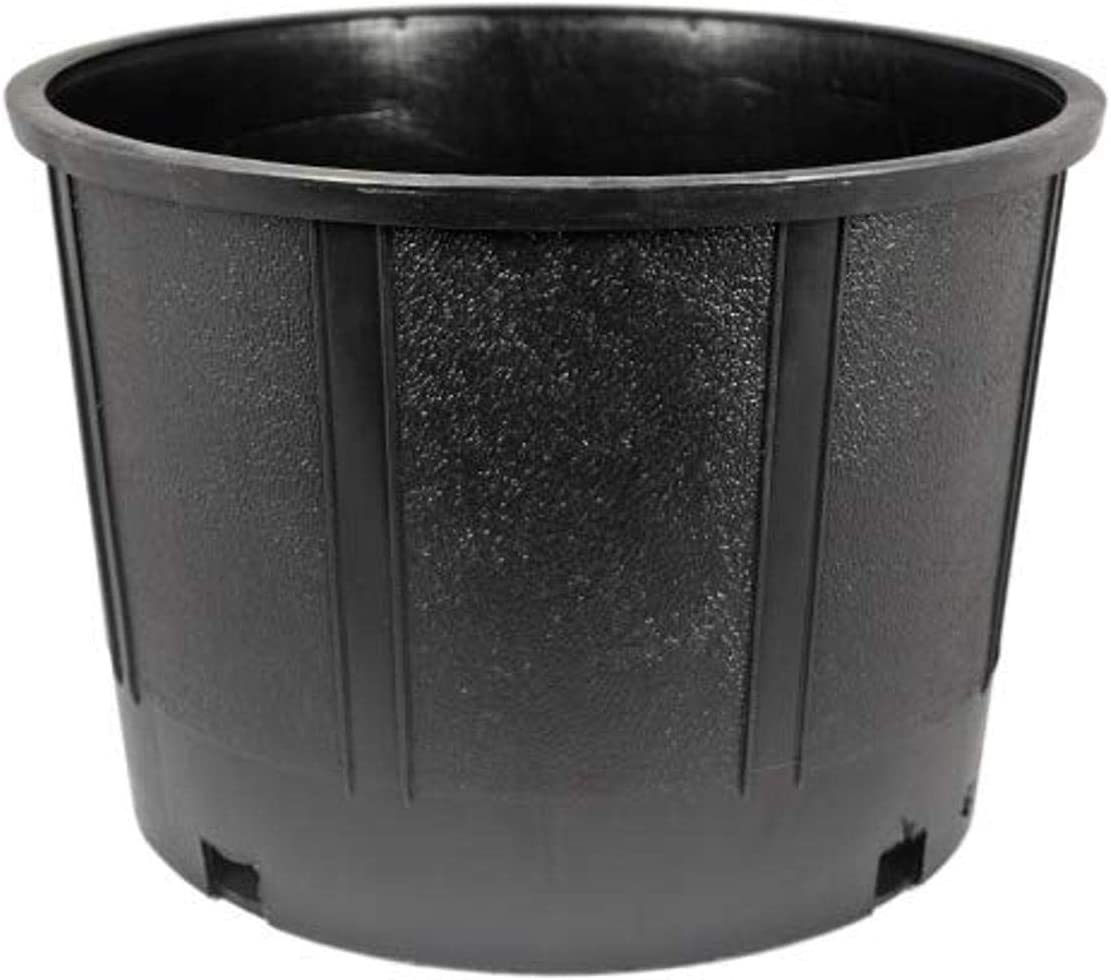 McConkey N129#5 Can Nursery Pot, Black, 4.1 gallon (#5)