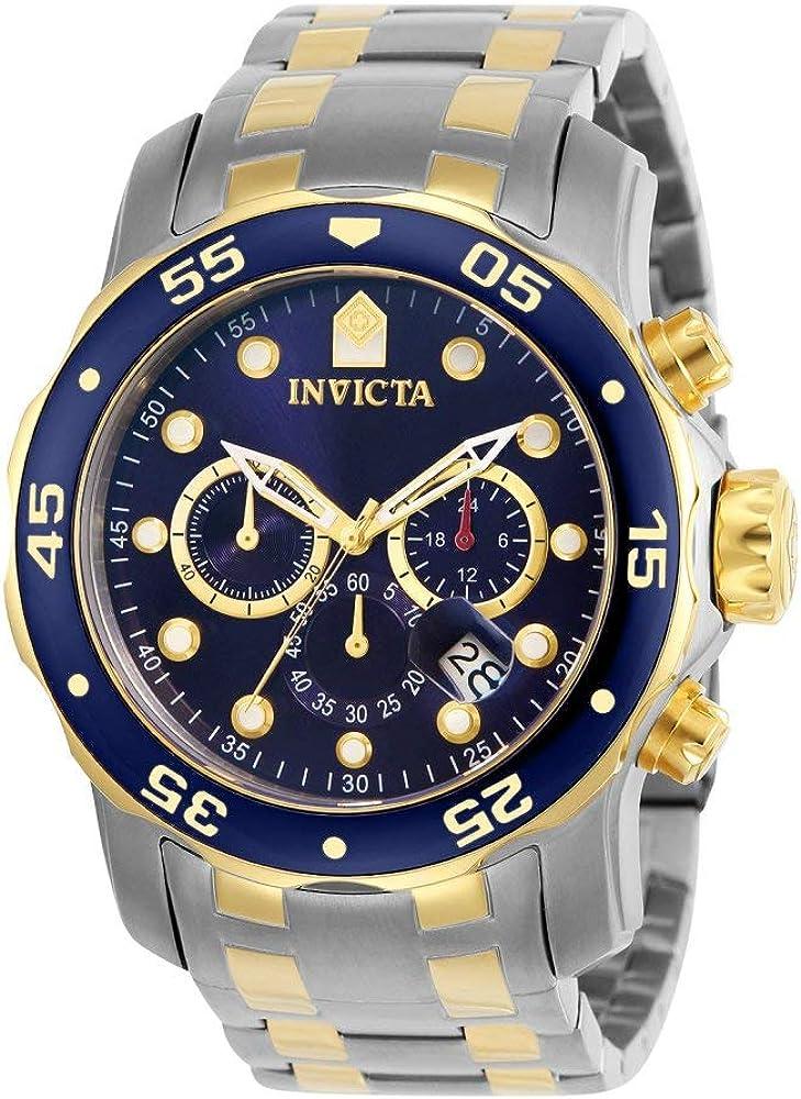 Invicta Men s 0077 Pro Diver Chronograph Blue Dial Watch